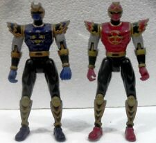 "POWER RANGERS NINJA STORM ""RED e BLUE"" plastica cm. 14 BANDAI 2002"