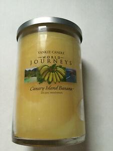 Yankee Candle Canary Island Banana 20oz Large Tumbler 2 Wick Candle New