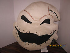 "Oogie HEAD 19""x18"" Soft Decor Pillow Halloween Nightmare Before Christmas 2016"