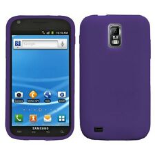 Dark Purple SILICONE Soft Gel Skin Case Cover for T-Mobile Samsung Galaxy S II 2