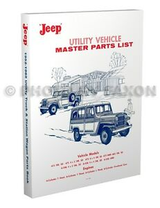 1952-1965 Jeep Pickup Station Wagon Teile Katalog Willys Truck Sedan Lieferung