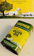 1950 Israel PASSOVER KOSHER Jewish OLIVE OIL Tin LITHO CAN Raban SHEMEN Bezalel