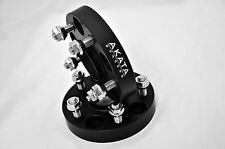 20MM HUB CENTRIC WHEEL SPACERS 5X100 CB 56.1 BLACK ANODIZE WITH STUDS  FOR SCION