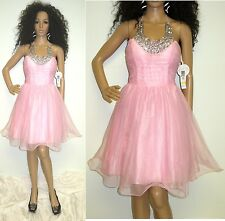 NWT PINK GLITTER TULLE & SEQUIN FORMAL PROM PAGEANT PARTY DRESS SZ 3/4