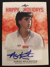 Aaron Krickstein 2016 Leaf Holiday Bonus #HH-AK1 Happy Holidays Autograph Auto