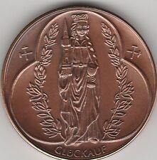 Bergbau Bergmann Zeche, Medaille mit Heiliger Barbara (17)