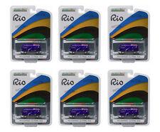 GREENLIGHT 1:64 SCALE RIO 2016 AUSTRALIA VOLKSWAGEN VW T2 BUS 6 PCS 51037