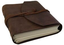Enya Leather Journal Rustic Tan, A5 Plain Pages - Handmade by Life Arts