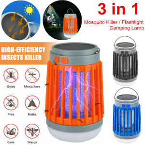 Solar USB Mosquito Killer Light Electronic Fly Bug Insect Zapper Trap Pest Lamp