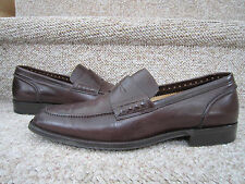 COLE HAAN LUCARNO C05821 MAHOGANY PENNY LOAFERS 8M ITALY