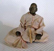 Vintage brass statue of A.C. Bhaktivedanta Swami Prabhupada - Hare Krishna murti