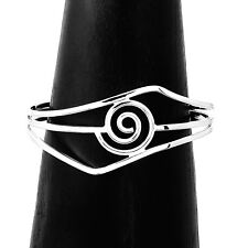 Hand Made Silver Infinity Spiral Cuff Bracelet Taxco Mexico
