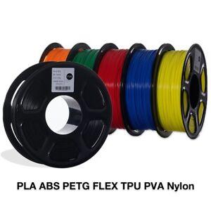 3D Printer Filament PLA ABS Nylon Dimensional 1.75mm 1KG Spool Printing Material