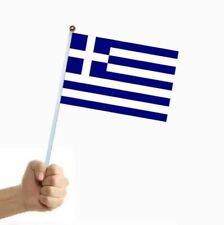 More details for 1 - 100 pieces greek greece flag small flags handheld party cypriot ΣΗΜΑΊΑ ΤΗΣ Ε