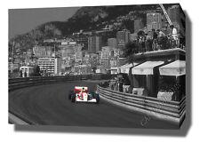 "AYRTON SENNA CANVAS 30""x20"" ART PRINT POSTER PHOTO PICTURE F1  MONACO WALL ART ."