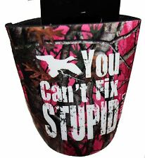 "NEW Duck Dynasty ""YOU CAN'T FIX STUPID"" Beverage Cooler - PINK can or bottle"