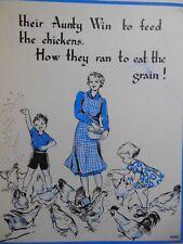 ORIGINALE CLEM (Cecily le mesurier) bambini LIBRO illustrazione c1930 mangime per polli