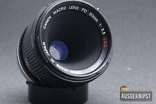 Canon FD 50mm 1:3 .5 S.S.C. macro objetivamente Prime lens digital puede ser adaptado