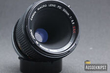 Canon FD 50mm 1:3.5 S.S.C. MACRO Objektiv Prime Lens digital adaptierbar