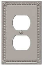 IMPERIAL BEAD BRUSHED NICKEL FINISH-SINGLE DUPLEX SWITCHPLATE WALLPLATE