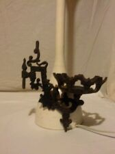 Cast Iron Wall Mount Candle Holder Ornate Gothic Home Decor Rustic