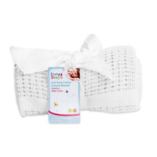 Baby Cellular Cotton Blanket White 70x90cm First Steps NEW!!
