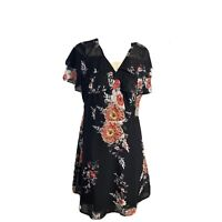 Tokito Womens Size 12 A - Line  Lined Dress Flared Cap Sleeves