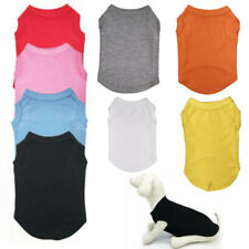 Pet Dog Cotton T Shirt Puppy Color Vest Cat Clothes Short Coat Apparel Costume