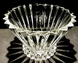 "Vintage 10"" Rosenthal Heavy Clear Cut German Crystal Centerpiece Fruit Bowl"