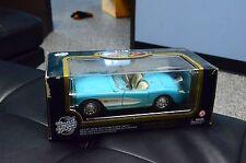 Road Tough 1957 Chevrolet Corvette Blue Die Cast Car Model 1:18