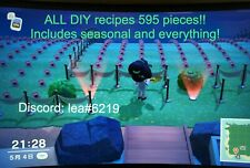 COMPLETE DIY recipes set 595 pieces + 80 Stacks Materials Animal Crossing ACNH
