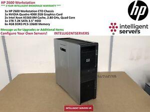 HP Z600 Workstation, 2x Xeon X5560 2.80GHz, 24GB DDR3 RAM, 1TB HDD, Quadro 4000