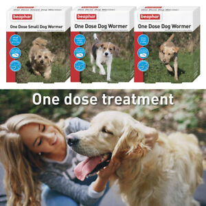 BEAPHAR One Dose Dog Wormer Tablets Roundworm Treatment & Cat Worming Granules