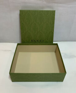"""Gucci Empty Green Box 12.5"""" x 8.5"""" x 3.25"""" Holiday Limited Edition Gift Box"""