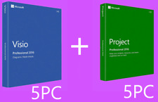 Microsoft Visio & Project 2016 Professional - BARGAIN BUNDLE -  5 PC!!!