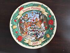 Disney Christmas Through Years Season'S Greetings 3D Bambi Collector'S Plate 07