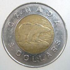 CANADA $2 Dollars 1996 - 2003 POLAR BEAR Bi-Metallic Canadian Toonie Money Coin