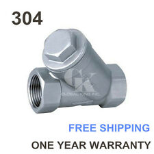 """G3"""" BSPP Female 304 Stainless Steel Inline Y Filter Strainer Pipe Fitting"""