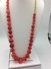 $98 Kate Spade Light The Sparklers Long Red Beaded Necklace 10-5