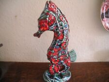 Anita Harris SEAHORSE 30cm Tall Hand Painted signed in Gold on Base