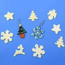 50 x Wooden Christmas Decorations Paint Your Own this Xmas - Snowflake Tree Star