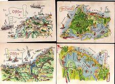 98954 4 AK Bild und Heimat Reichenbach Landkarten AK Ostsee Darss Fischland