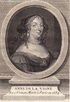 Portrait XVIIIe Anne de La Vigne Vernon Eure Poésie Poétesse Normandie 1781