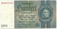 WW2 ORIGINAL NAZI Germany Third Reichs Banknote 100 Reichsmark 1935/B