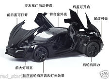 1/32 Lycan Supercar Model light&sound Alloy Diecast Car Kid Gifts W Backpower