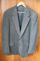 VTG 1950s Pendleton Grey Windowpane sport coat box jacket VLV Rockabilly 42R