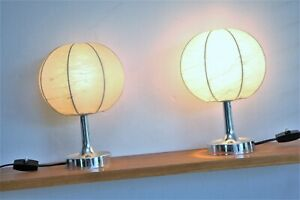 2x Cocoon Tischlampen  Alfred Wauer für Goldkant Table lamp