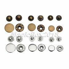 50pcs Metal Snap Fasteners Press Studs Button For Sewing Leather Clothing Craft