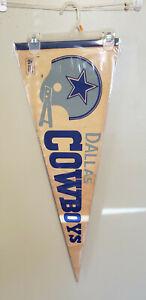 DALLAS COWBOYS 2 BAR NFL VINTAGE PENNANT WITH HOLDER 8/29/20