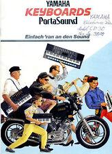 Reklame Yamaha Broschüre Keyboards Porta Sound Rellingen